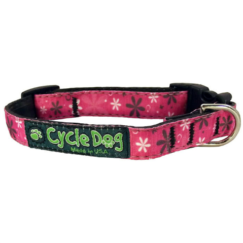 cycle dog Pink Retro Flowers