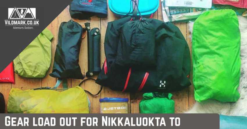 gear load out for Nikkaluokta to Abisko