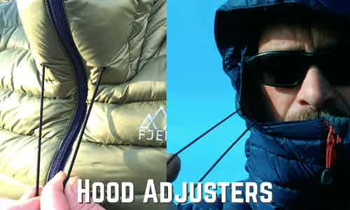 new hood adjusters on the Fjern Arktis II Down Jacket