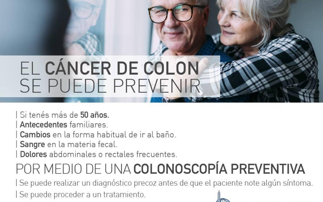 MARZO. Mes de prevención contra el cáncer de colon.