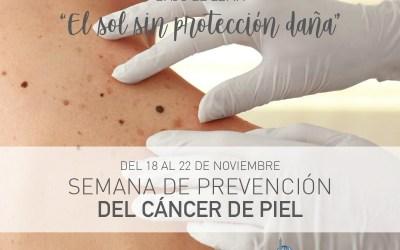 INICIA LA SEMANA DE PREVENCIÓN DEL CANCER DE PIEL.