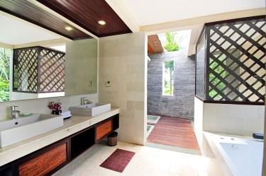 Saraswati bathroom sink area