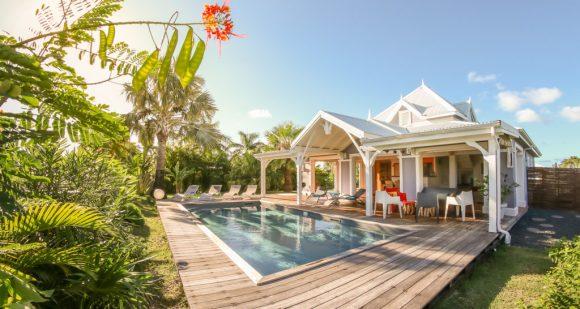 Le jardin tropical de la Villa Blue Lagoon Saint-François