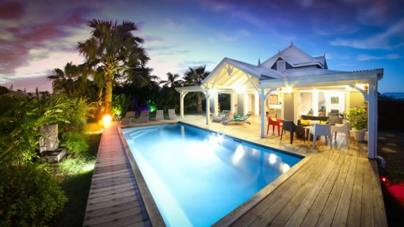 La piscine de la Villa Blue Lagoon Saint-François