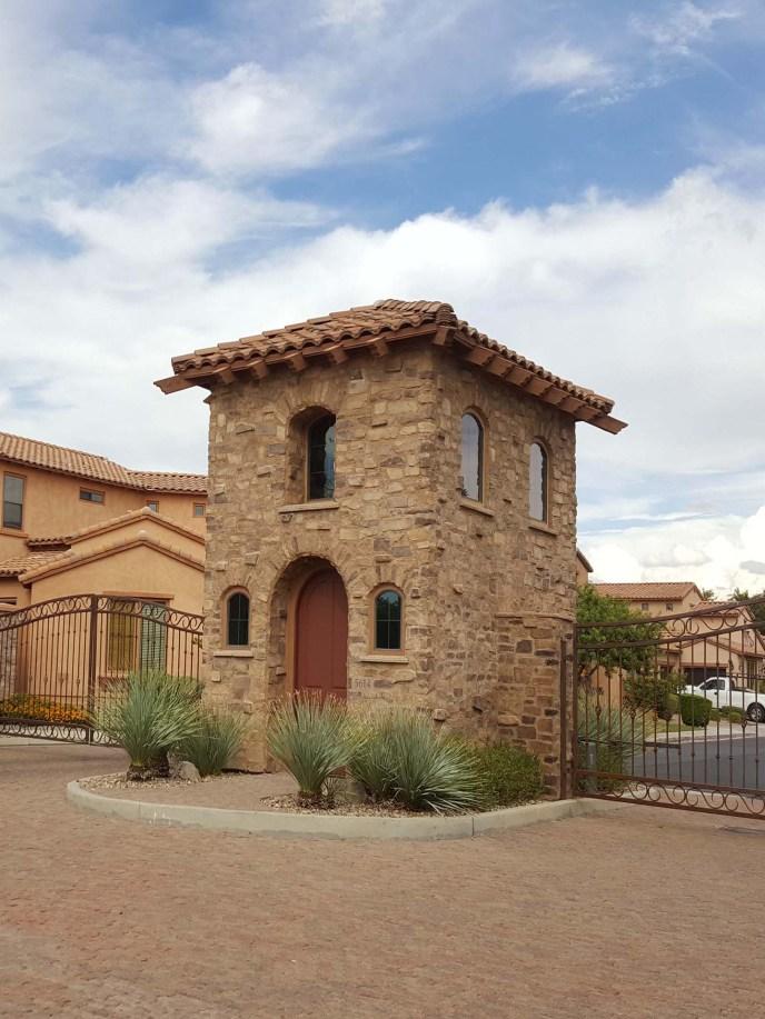 Gate Tower at Villa de Sorano's front entrance