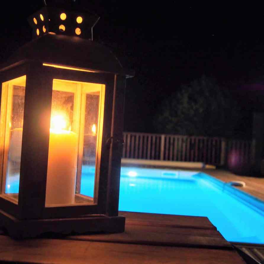 Landscape lighting - Swimming pool