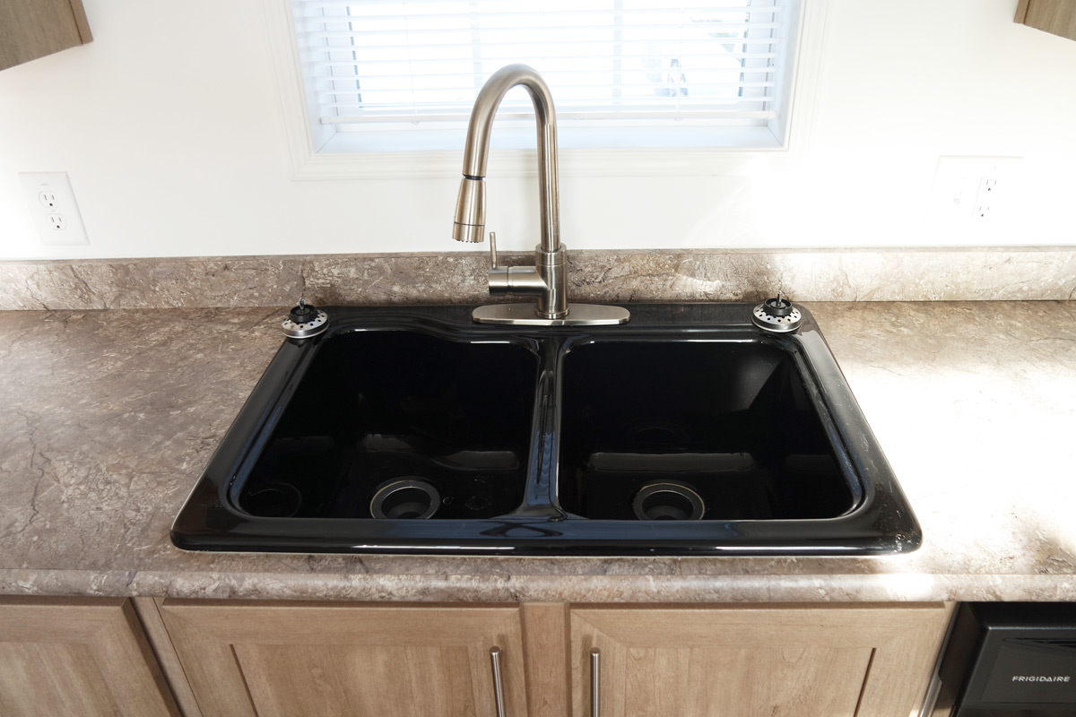 mobile home kitchen sink painted gray cabinets single wide 16 x 80 76 village homes