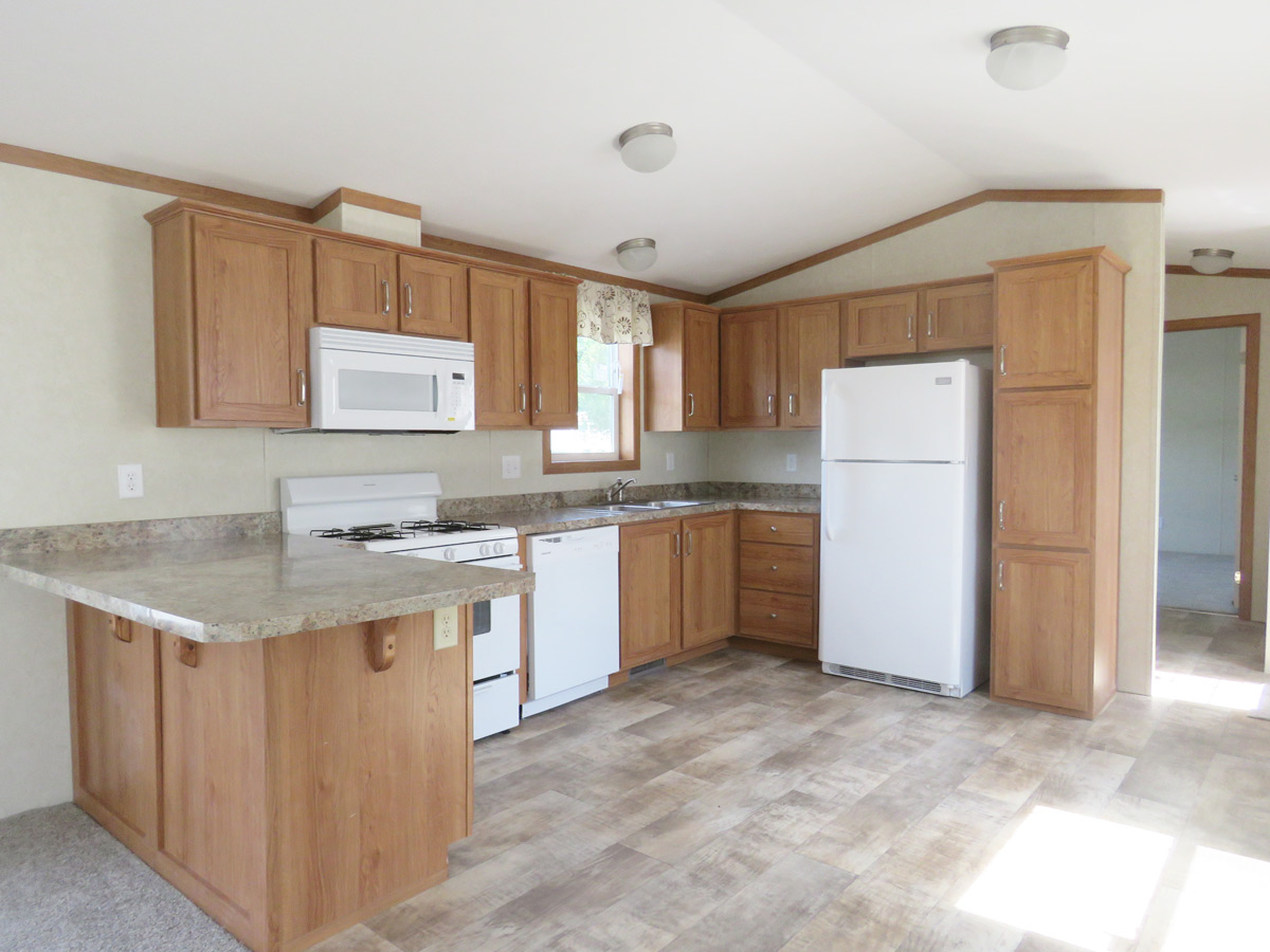 4a155a Single Wide Manufactured Home Kitchen Village Homes