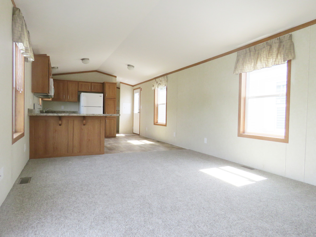 4A155A Single Wide Manufactured Home Living Room