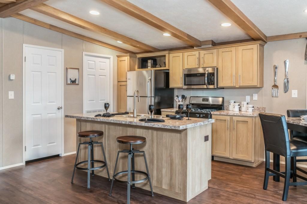 model homes kitchen pictures kohler purist faucet double-wide mobile home, 24 x 40(36)   village