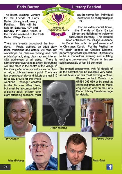 Earls Barton Literary Festival