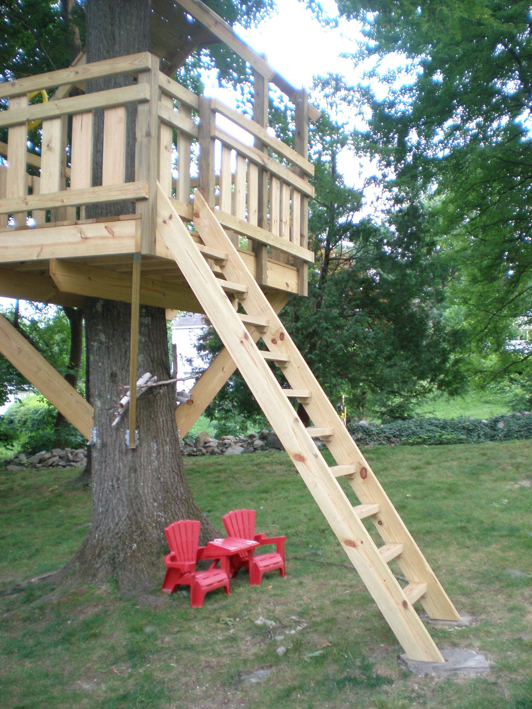 Tree Fort Ladder Gate Roof Finale Village Custom Furniture
