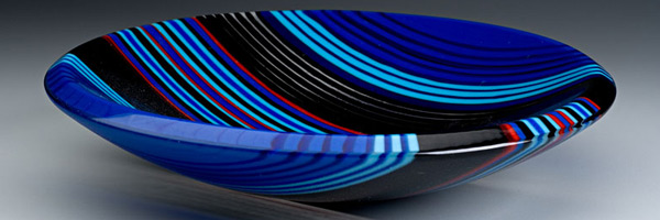Image of blue glass bowl