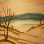 Image of oil painting by Barbara Sparks-Shively of a landscape
