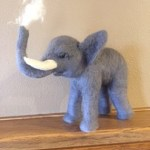 Image of Felted Elephant Art by Chris Boyer