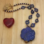 Image of Lapis Flower Necklace by Denise Hershey
