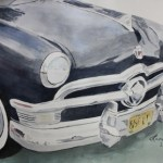 Image of 1950 Ford Black art by Lane Clem