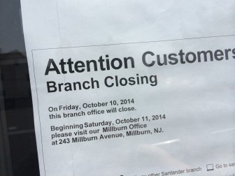 Santander Maplewood Branch to Close October 10  The Village Green