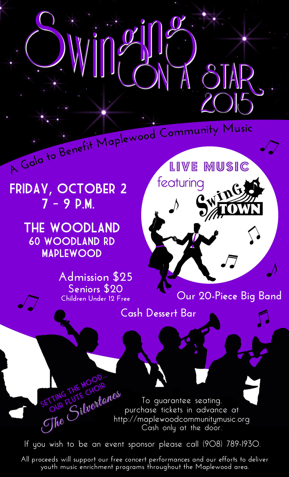Swinging on a Star Live Big Band  Swing Dance on Oct 2