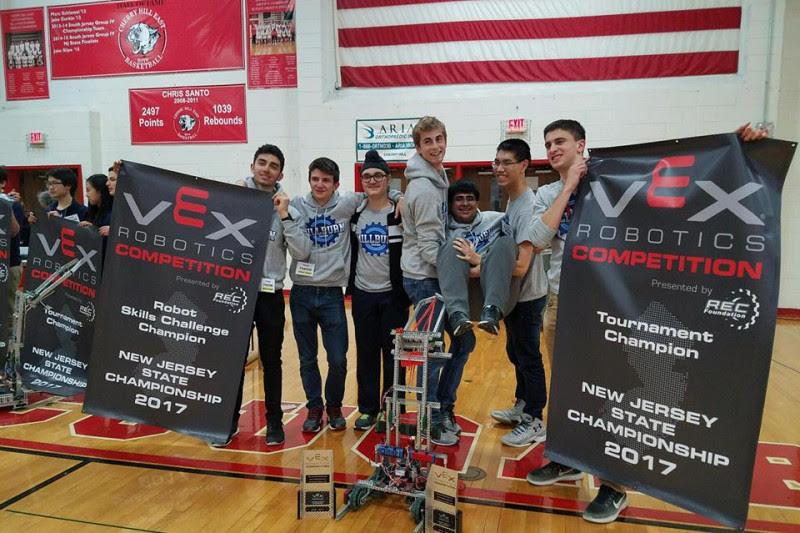 Millburn High School Robotics Team Wins States Heads to