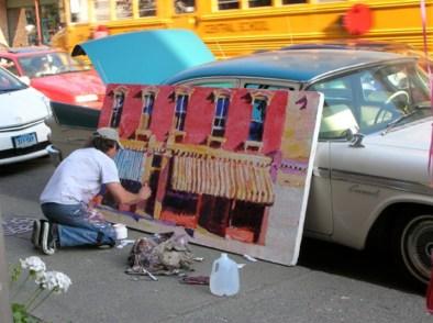 Street painter Roger Mason