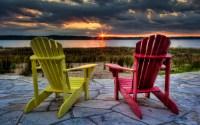 Muskoka Chair Sunset   Villagephotography