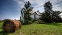 Sinking farm house