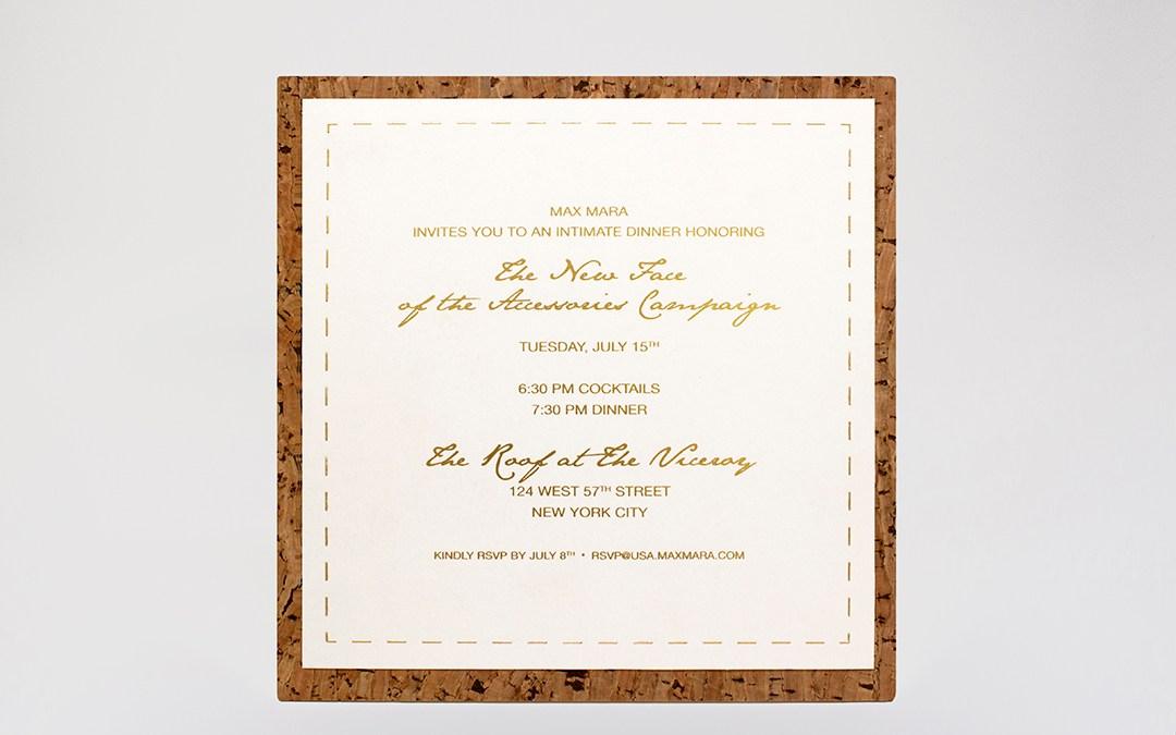 Cork Invitation