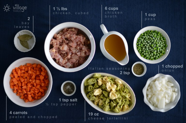 Chicken Tortellini Soup Ingredients