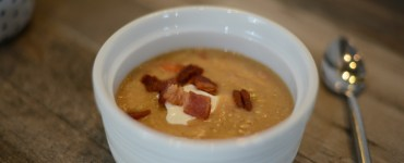 Creamy bean and bacon soup recipe