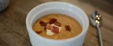 Creamy bean and bacon soup recipe