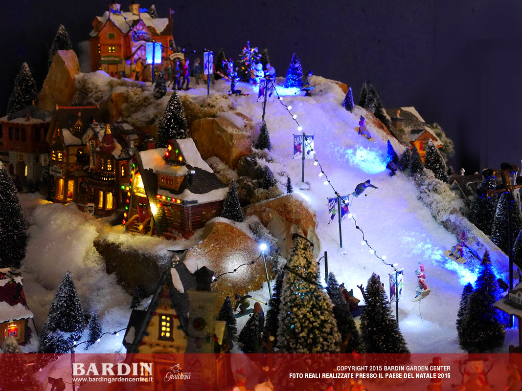 Idee Per Il Villaggio La Pista Da Sci Villaggi Di Natale