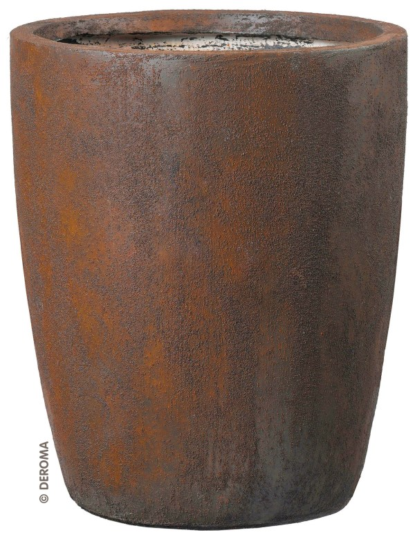 Vase Style Planter Rust Effect