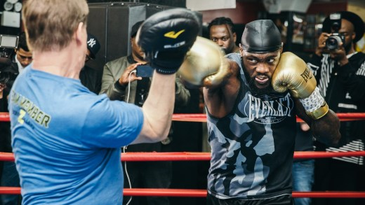 Deontay Wilder Holds Media Day For May 18