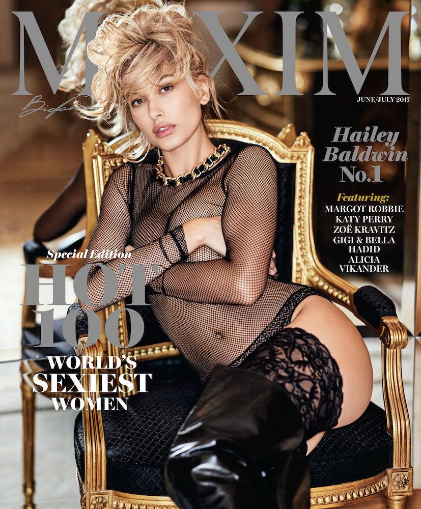Hailey Badlwin in Maxim Hot 100 of 2017