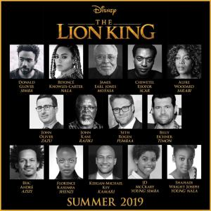 Lion King cast, Disney