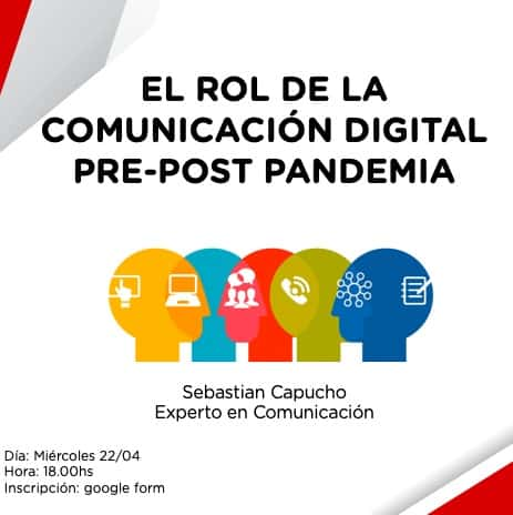 "Charla virtual: ""El Rol de la Comunicación Digital Pre-Post Pandemia"""