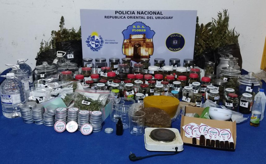 Policía allanó finca en la que comercializaban productos de cannabis sin regulación