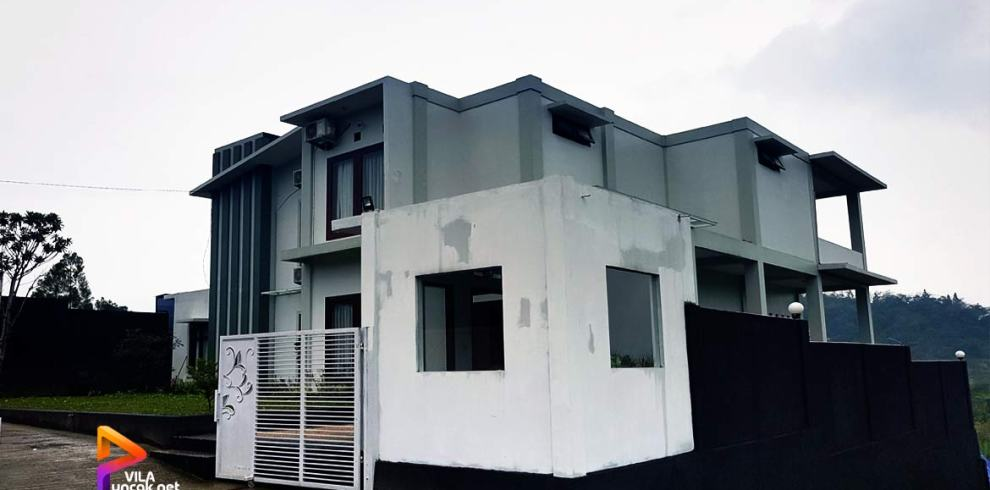 sewa villa cipanas bangunan modern
