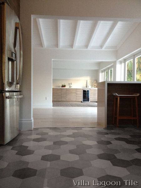 Mixed Gray Hex Cement Tile  Villa Lagoon Tile
