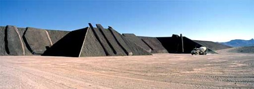 "Michael Heizer's ""City"" in the Nevada desert"