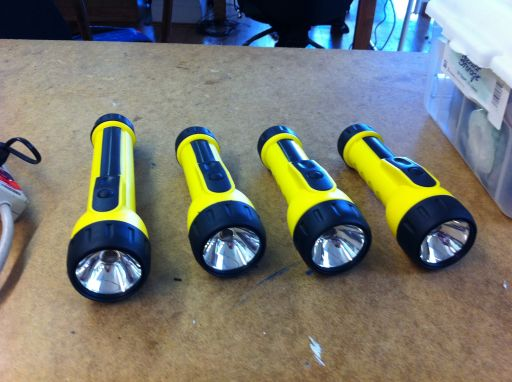 Finished flashlight controllers
