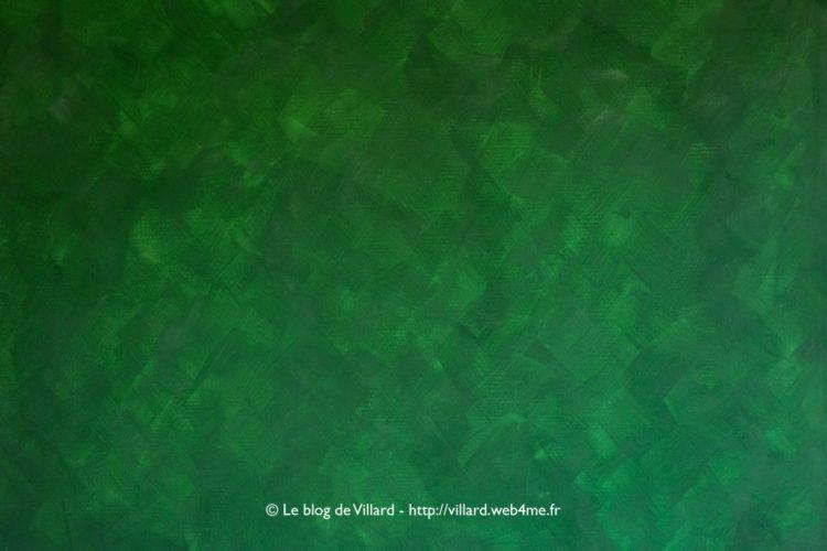 Peinture à la colle de peau teintée au pigment Vert MC : deuxième passe