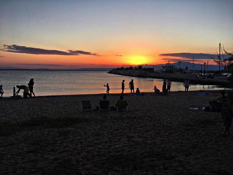 Ηλιοβασίλεμα, Θάσος