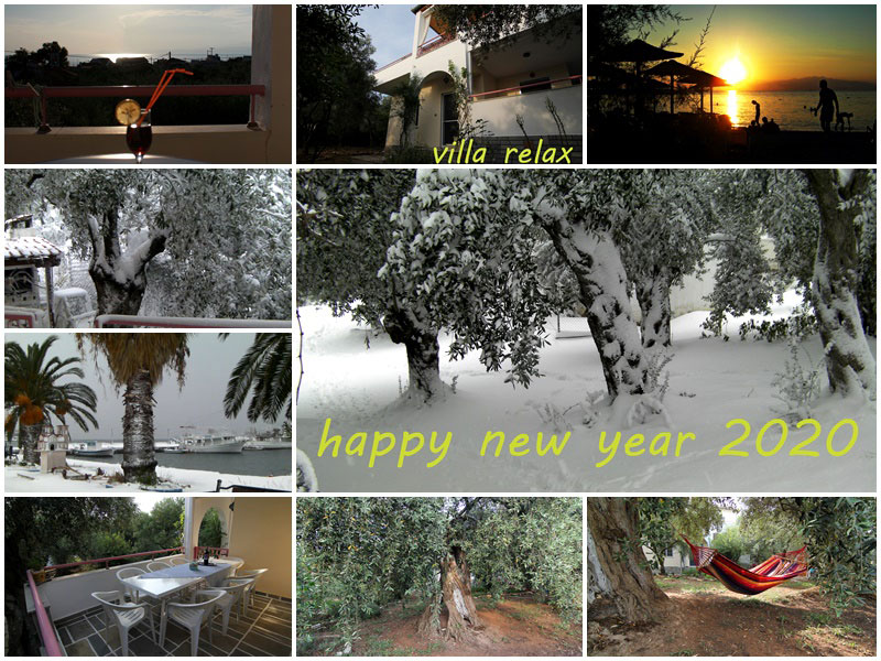 Happy new year 2020 from Villa Relax Thassos!