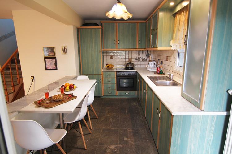 Kitchen zone at 1st floor, Villa Relax Thassos