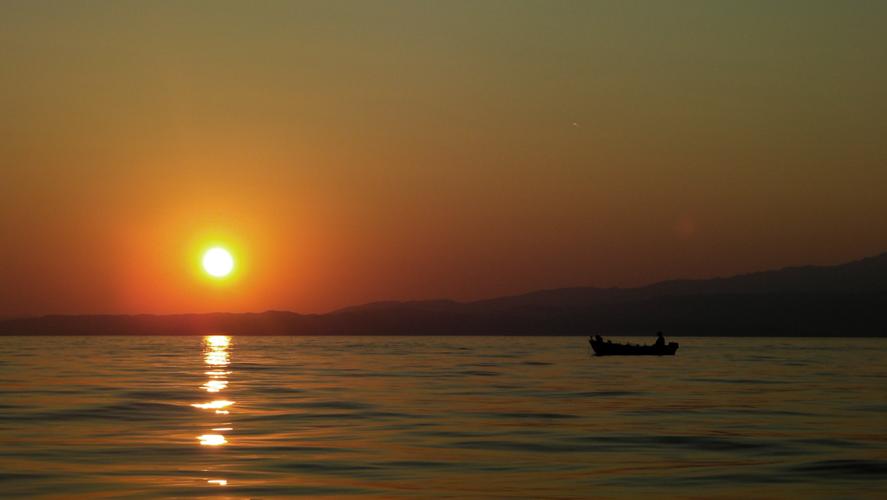 Закат в д. Скала Каллирахи, о-в Тасос