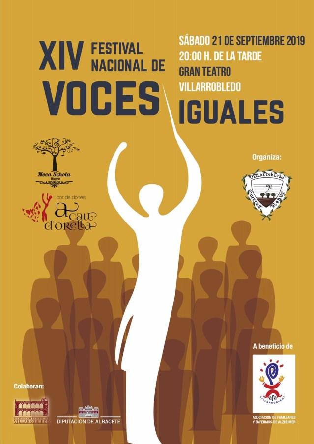 Cartel XIV Festival Nacional Voces Iguales