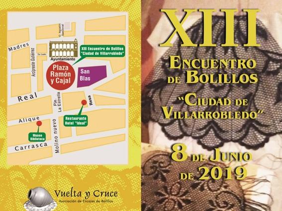 """Vuelta y Cruce invita al XIII Encuentro de Bolillos """"Ciudad de Villarrobledo"""""""