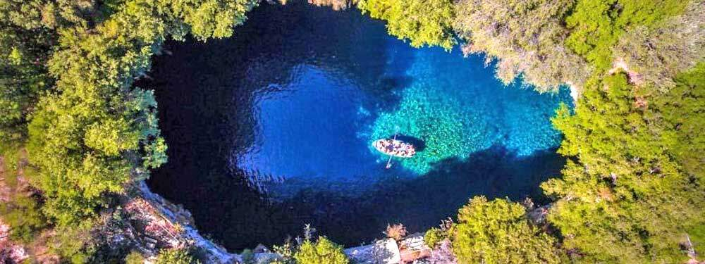 Melissani Cave in Kefalonia